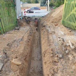 Neuverlegung Abwasseranschluss für Privatgrundstück