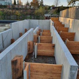 Neubau Fischaufstiegsanlage mit Ansicht der Einbauten